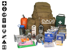 Deluxe GoBag® Standard Emergency Survival Kit | SURVIVAL UK - EVAQ8 Emergency Preparedness supplies to support two persons for 72 hours | GoBag® from EVAQ8.co.uk the UK's Emergency Prepardness specialist - SURVIVAL UK