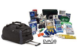 Mobile Natural Disaster Survival Kit  | SURVIVAL UK - Emergency Preparedness supplies in the event of a major incident or disaster from EVAQ8.co.uk the UK's Emergency Prepardness specialist - SURVIVAL UK